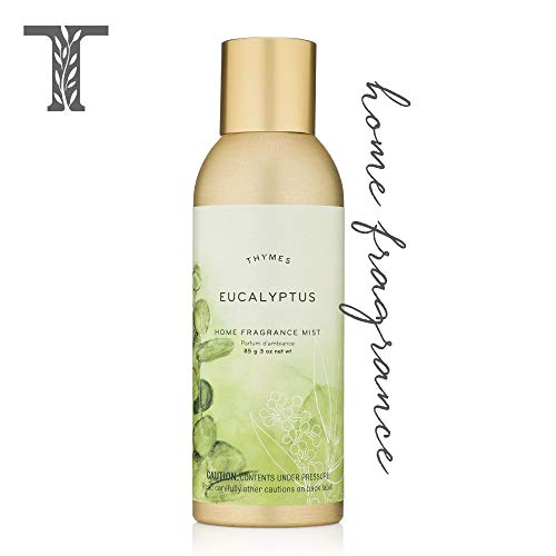 Home Leaf Fragrance Mist - Thymes - Eucalyptus Home Fragrance Mist - Relaxing Botanical Scented Room Spray - 3 oz