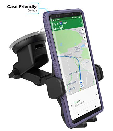 Encased XL Car Mount Phone Holder - Google Pixel 3 / Pixel 3 XL (Case Friendly) Adjustable Dock w/Windshield Dashboard & Vent Clip (v2.4 2018)