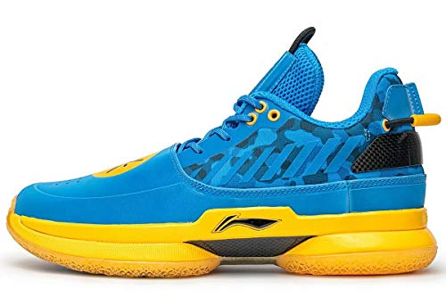 LI-NING Wow 7 Wade University Camo Men Profession Basketball Shoes Classic Sports Male Sneakers Blue ABAN079-35 US 7.5 (Official Footwear)