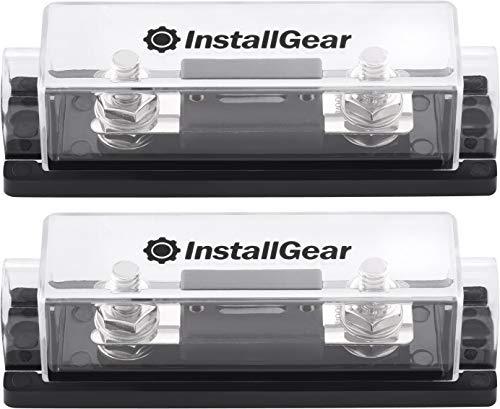 InstallGear 0/2/4 Gauge Ga ANL Fuse Holder + 100 Amp ANL Fuses (2 Pack) ()