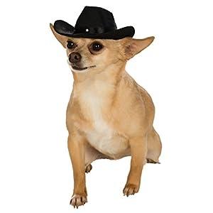 Rubie's Black Cowboy Hat for Pets, Small/Medium