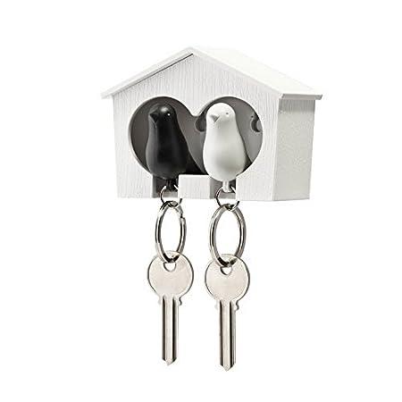 Amazon.com: Duo Sparrow llavero por Qualy diseño. Montado en ...
