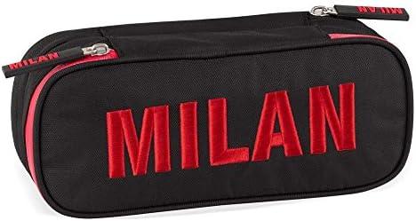 Milan Oficial estuche escolar Bolsita dos compartimentos colección 2018 Maxi L: Amazon.es: Oficina y papelería