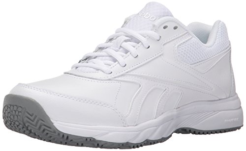 Reebok Women's Work N Cushion 2.0 Walking Shoe, White/Flat Grey, 10 M US