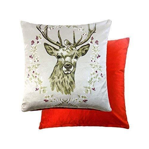 2 x Navidad Ciervo ciervos corona Robin suave terciopelo ...