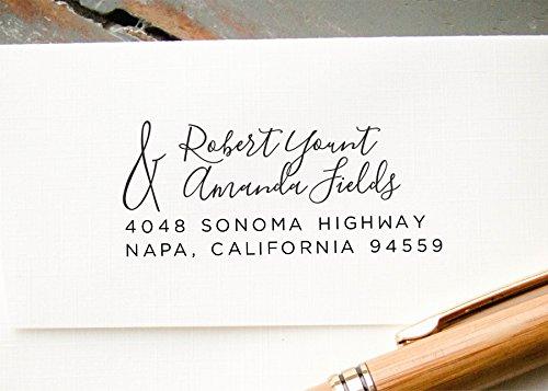amazon com self inking return address stamp different last names