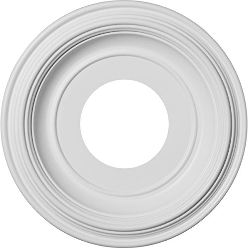 Ekena Millwork CMP10TR Traditional Thermoformed PVC Ceiling Medallion, 10OD x 3ID x 1 1/8P (Fits Canopies up to 5 1/2), White