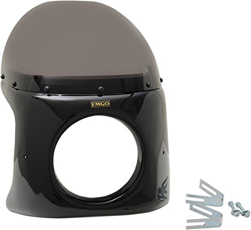 (Emgo Universal Mount Retro Style Fairing for Harley-Davidson with 7