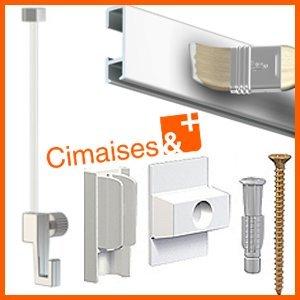 Cimaise Box Artiteq Click Eco 4 Metres Blanc A Peindre Kit