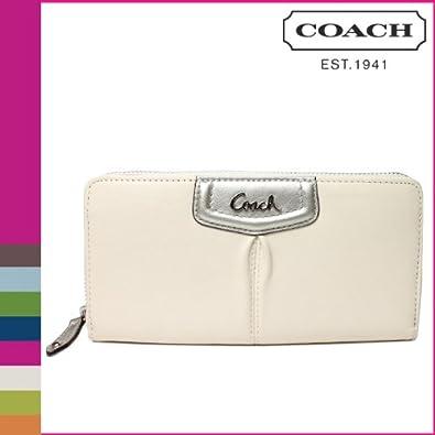 a12ee3585dbb [コーチ] COACH 長財布 [F48102] シルバー×ホワイトアシュレー レザー ジップアラウンド