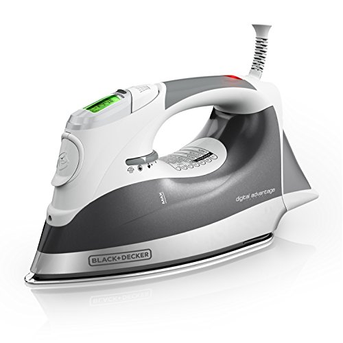 Iron Stainless Steel Handles (BLACK+DECKER Digital Advantage Professional Steam Iron, LCD Screen, Gray, D2030)