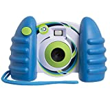 DISCOVERY KIDS USB Compatible Digital Camera, Comes With 1.5'' Color LCD Screen, Captures Photos And 50 Second Long Videos, 16 MB Storage for Up to 120 Images, Transfer Files W/Cable, BLUE/GREEN