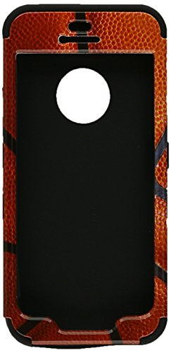 MYBAT TUFF Hybrid Phone Protector Package - Retail Packaging - Basketball - Sports Collection/Black