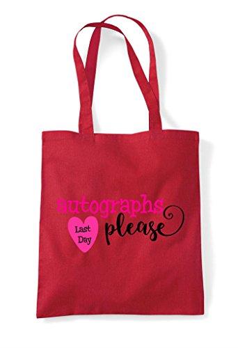 Day Red Tote Please Autographs Bag Last Shopper dwxTqd