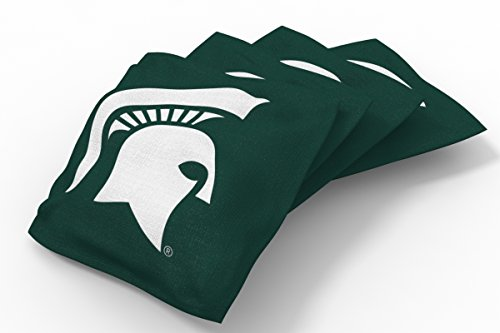 Wild Sports NCAA College Michigan State Spartans Green Authentic Cornhole Bean Bag Set (4 Pack)