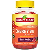 Nature Made Energy‡ B12 1000 mcg Gummies, 80 Count for Metabolic Health† (Packaging May Vary)