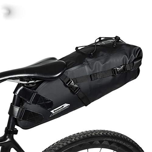 GHGUNOXR Waterproof Bicycle Saddle Bag Road Mountain Bike Cycling Rear Rack Bag Luggage Pannier Bike Accessories