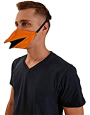 Adult Funny Duck Beak Mask Creative Talking Duck Face Covers with Adjustable Ear Rope, Reusable Duck Mouth Mask Party Props