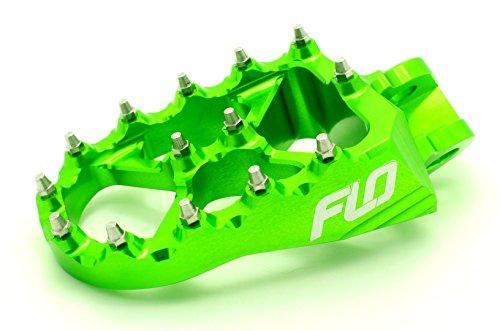 Flo Motorsports Green Kawasaki KXF250/450 Foot Pegs Fpeg-792Grn by Flo Motorsports (Image #1)