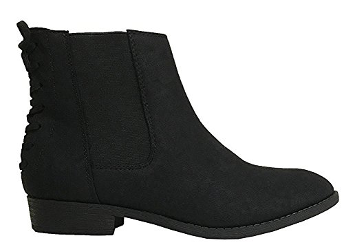 Women's Heel Bootie Ankle Lace City Classified Black up Flat NB Back 5BYTgxwO
