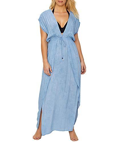 Elan Maxi Cover-Up, M, Washed Blue (Elan Swimwear)