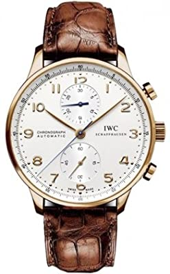 Mens IWC Watch Portuguese Rose Gold Chronograph IW371480 from IWC