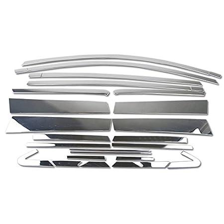 HIGH FLYING RAV4 XA40 4 22 Pieces Generation 2013-2017 Exterieur T/ür Fenster Stylingleisten Verchromt Edelstahl