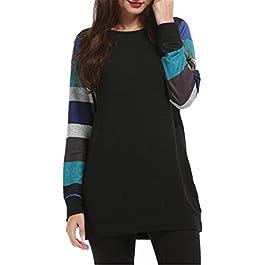 Women's Cotton Knitted Long Sleeve Lightweight Sweatshirt Tops