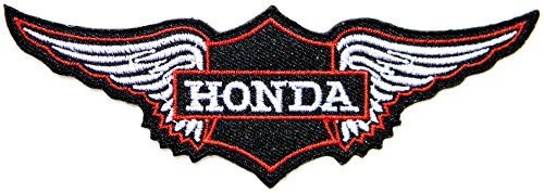 HONDA BIG WING Motorcycle Motocross Motogp Logo Sign Biker Racing Patch Iron on Applique Embroidered T shirt Jacket Custom Gift BY SURAPAN