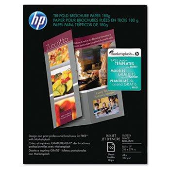 HEWC7020A - HP Inkjet Tri-Fold Brochure (Hp Inkjet Brochure Paper)