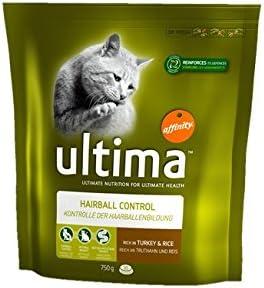 Ultima - Pelota de Pelo para Gato o Gato seco, 750 g, 5 Unidades ...