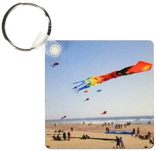 3dRose Flying kites along D River, Lincoln City, Oregon - US38 DFR0166 - David R. Frazier - Key Chains, 2.25 x 4.5 inches, set of 2 - Pictures Oregon Of City Lincoln