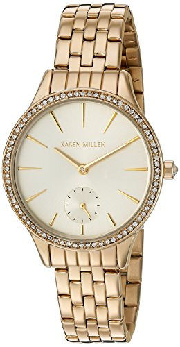 Karen Millen Women's Quartz Brass-Plated and Stainless Steel Dress Watch, Color:Gold-Toned (Model: - Karen Millen Shop