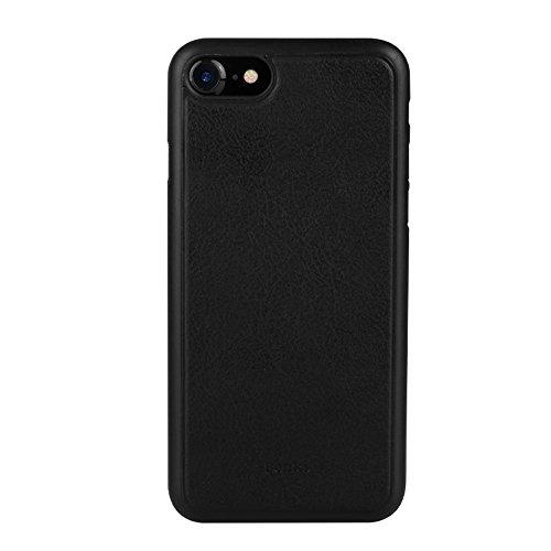 BENKS Magnetic Leather Coated PP Tasche Hüllen Schutzhülle Case für iPhone 7 - schwarz