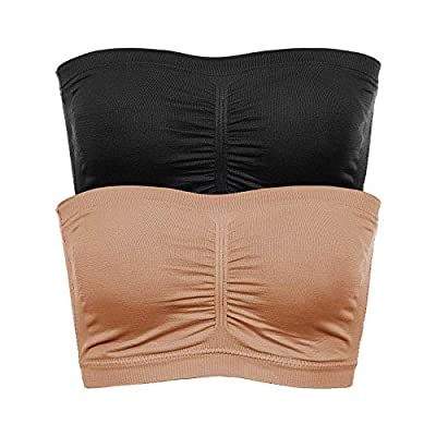 Time and River Wirefree Bandeau Bra Strapless Tube Tops for Women