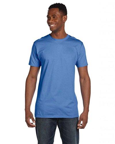 Hanes Herren Asymmetrischer T-Shirt Small Blau - Vintage Blue