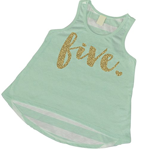 Fifth Birthday Outfit Girl Five Year Old Girl Birthday Tank Top