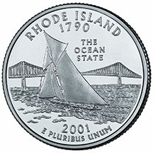 2001 P Rhode Island State Quarter Choice Uncirculated