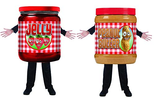 Smuckers Jelly Costumes - Kids Peanut Butter and Jelly Couples Costumes, One