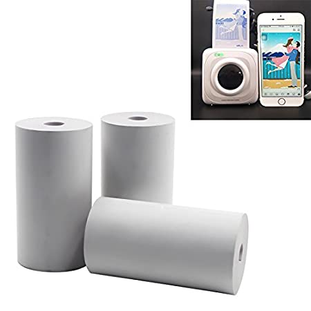 ROKOO 3 Rolls Thermal Printing Paper 57 x 30mm Bill Receipt Papers Accessories for Paperang