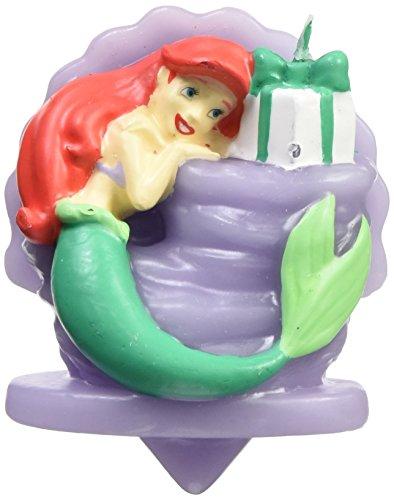 Wilton 2811-5660 Disney Princess Little Mermaid Ariel Birthday Candle, Assorted by Wilton