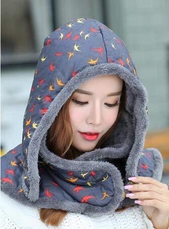 Chic Caldo Sintetica Hx In Cappello Hat Beanie Aviatore Floreale Ragazza Da Invernale Elegante Grau Pelliccia Donna Fashion Scarf wwF8zq