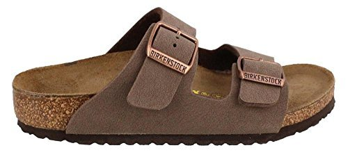 1afce429c2d6 Galleon - Birkenstock Arizona Birko-Flo Mocha Birkibuc Sandals - 26 (US 8-8.5  Toddler) Narrow