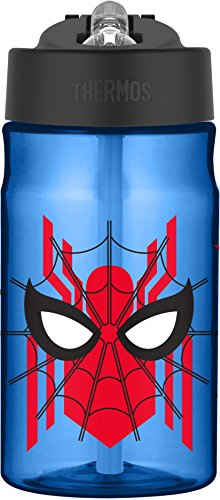 Spider Man Water Bottle - Thermos 12 Ounce Tritan Hydration Bottle, Spiderman