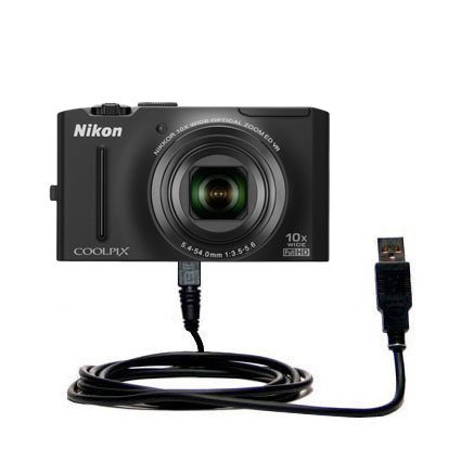 Hot Sync and Charge Straight USB cable for the Nikon Coolpix S8100 – Charge and Data Sync with the same cable. Built with Gomadic TipExchange Technology