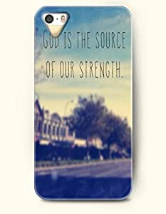 iPhone 4 4S Case OOFIT Phone Hard Case **NEW** Case with Design God Is The Source Of The Strength- Road View - Case for Apple iPhone 4/4s