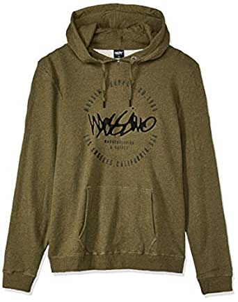 Mossimo Men's Bad Seed Pullover Hoodie, Army Marle, XS