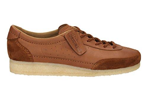 Clarks Originals Casual Hombre Zapatos Torcourt Super En Piel Marrón Tamaño 42