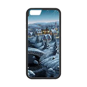 iPhone 6 Plus 5.5 Inch Cell Phone Case Black Small Village Winter Christmas Eve Dccxx