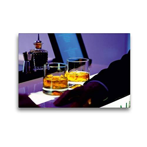 CALVENDO Lifestyle Toile Murale décorative en Tissu Motif Fleurs de Whisky 45 x 30 cm